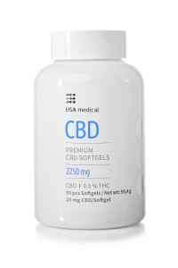 USA Medical CBD kapszula 90db - 90x25mg = 2250mg