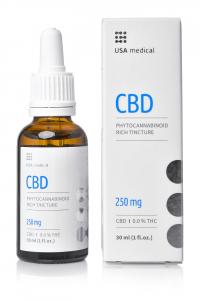 USA Medical CBD olaj 30ml - 250mg
